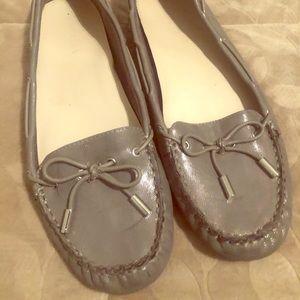 Graphite flat shoes